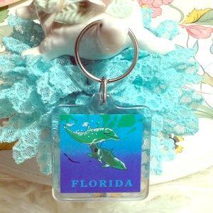 1980 Florida Dolphin Keychain